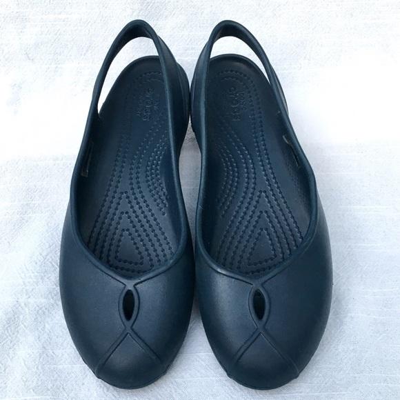 Reporter lämna Mottagningsmaskin  CROCS Shoes | Blue Slingback Womens Nwot Kade Sz 6 | Poshmark